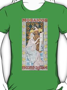 'Mosaicos' by Alexandre de Riquer (Reproduction) T-Shirt