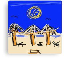 Beach please… Canvas Print