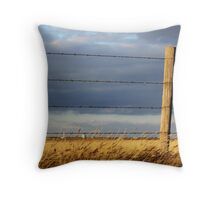The Wire Runs Through It Throw Pillow