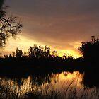 Darling river sun set by MatrixMan