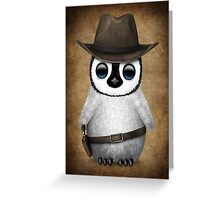 Cute Baby Penguin Wearing Cowboy Hat Greeting Card