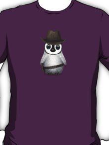 Cute Baby Penguin Wearing Cowboy Hat T-Shirt