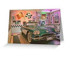 Let's Go To The Corvette Diner ~ San Diego, California Greeting Card