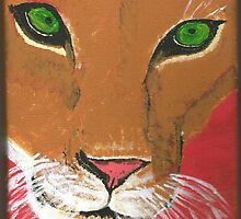 Lioness Acrylic Painting on Canvass by DeludedDesigns