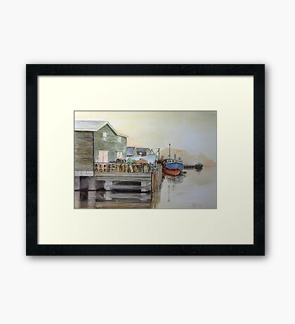 Fishing Boats in Peggy's Cove Framed Print