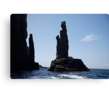 rock sculpture Canvas Print