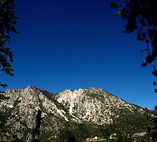 Mountain Range Overlooking Emerald Bay by davesdigis