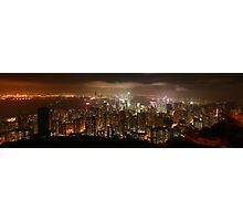 Hong Kong skyline at night Photographic Print