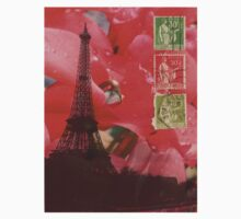 Eiffel Tower and Red Cyclamen by BHarrisonArts