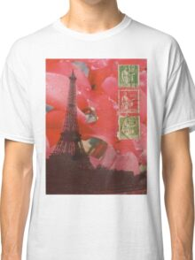 Eiffel Tower and Red Cyclamen Classic T-Shirt