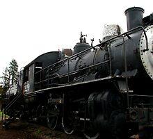 Old Steam Locomotive # 1229 by Chuck Gardner