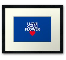 I love cauliflower Framed Print