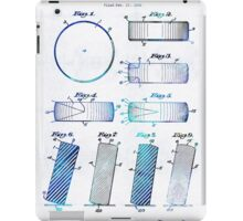 Blue Hockey Art - Hockey Puck Patent - Sharon Cummings iPad Case/Skin