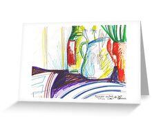 GREEN ONIONS STILL LIVE(C2013) Greeting Card
