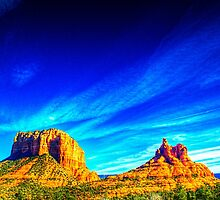 Courthouse Butte and Bell Rock Sedona Arizona by Roger Passman