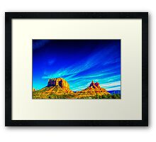 Courthouse Butte and Bell Rock Sedona Arizona Framed Print