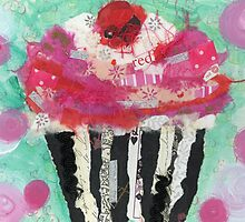 Cupcake and Polka Dots by Michelle Johnson Fairchild