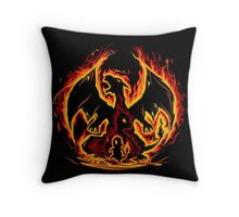 Charizard fire evolutions cool design Throw Pillow