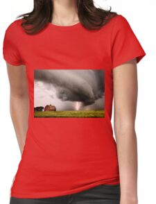 Prairie Storm Clouds lightning storm Womens Fitted T-Shirt