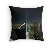Tokyo Skyscape Throw Pillow