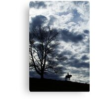 Rough Weather Ahead Soldier....  Canvas Print