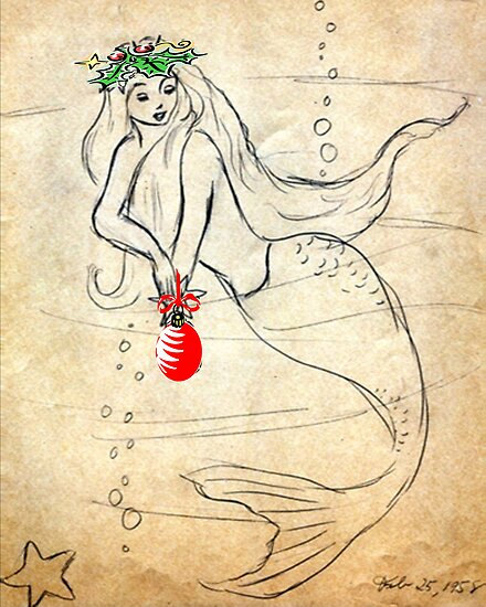 Christmas Mermaid   Retro 1950's    212  Views by Rosalie Scanlon