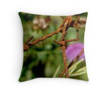Barbed Flower Throw Pillow