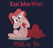 Real Men Wear PINK-ie Pie! One Piece - Long Sleeve