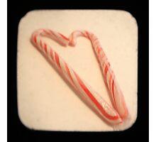 Striped Heart TTV Photographic Print
