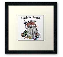 Fandom Trash Logo Framed Print