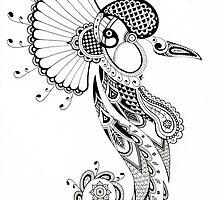 Paisley Crane by laurelhach