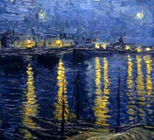 Starry Night Over The Rhone Sticker