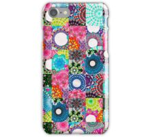 Tiled Randomized Jigsaw Spirograph Design iPhone Case/Skin