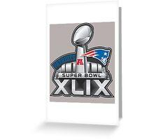 New England Patriots Superbowl 49 Champions Greeting Card