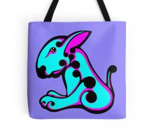 Swirl English Bull Terrier Aqua and Shocking Pink Tote Bag