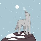 Howling Arctic Wolf by thekohakudragon