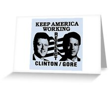 REELECT CLINTON/GORE Greeting Card