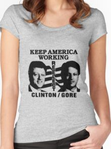REELECT CLINTON/GORE Women's Fitted Scoop T-Shirt
