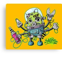 Graffiti robot Canvas Print
