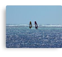 Wind Surfers Canvas Print