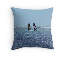 Wind Surfers Throw Pillow