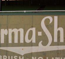 Baseball Field & Burma Shave Sign Sticker