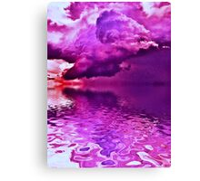 Purple Clouds on Water Canvas Print