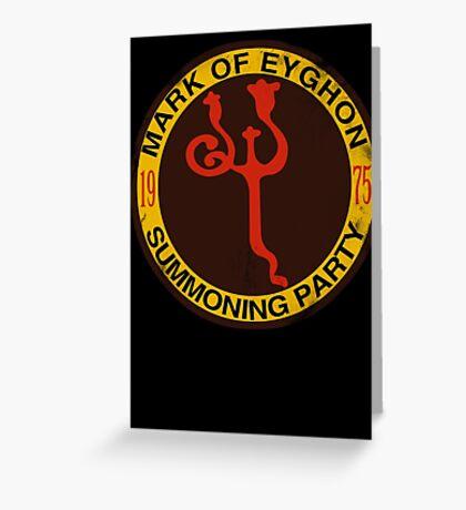 Mark of Eyghon Summoning Party Greeting Card