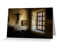 Light in a Monastery Greeting Card