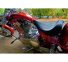 Red Chopper Photographic Print
