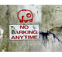 No Barking Photographic Print