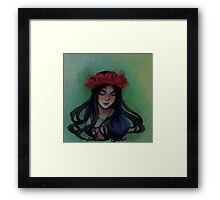 paint the roses red Framed Print