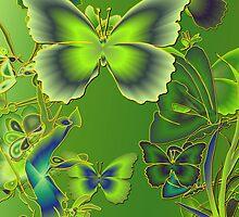 Emerald Butterflies by Dominic Melfi