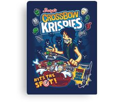 Crossbow Krispies Canvas Print